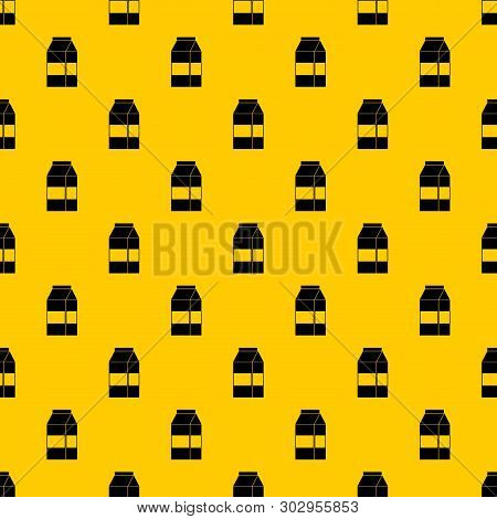 Box Of Milk Pattern Seamless Vector Repeat Geometric Yellow For Any Design