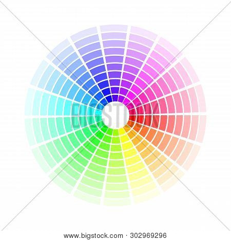 Color Circle. Bright Colorful Rainbow Shades. Vector Illustration Isolated On White Background