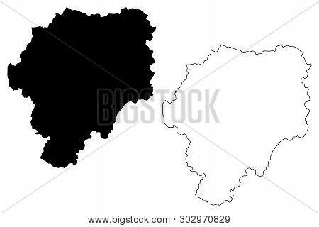Bistrita-nasaud County (administrative Divisions Of Romania, Nord-vest Development Region) Map Vecto
