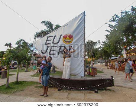 I Love Jericoacoara Message In Portuguese Eu Amo Jeri On Sailboat At Jericoacoara On Brazil