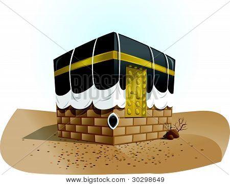 Vector Haram Mosque Kaba