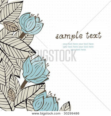 Illustration with flowers and leafs