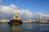 View of Black Sea Fleet Raid Tug in bay of Sevastopol poster