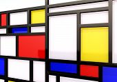 3DAbstract background with modernist wall or shelves poster