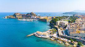 Panoramic View Of Kerkyra, Capital Of Corfu Island