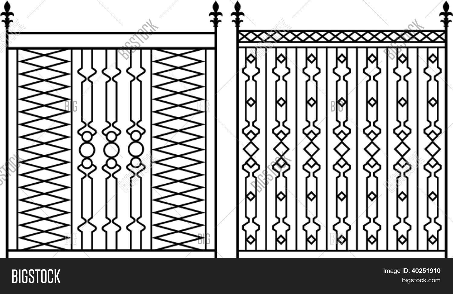 Wrought Iron Gate, Vector & Photo (Free Trial) | Bigstock