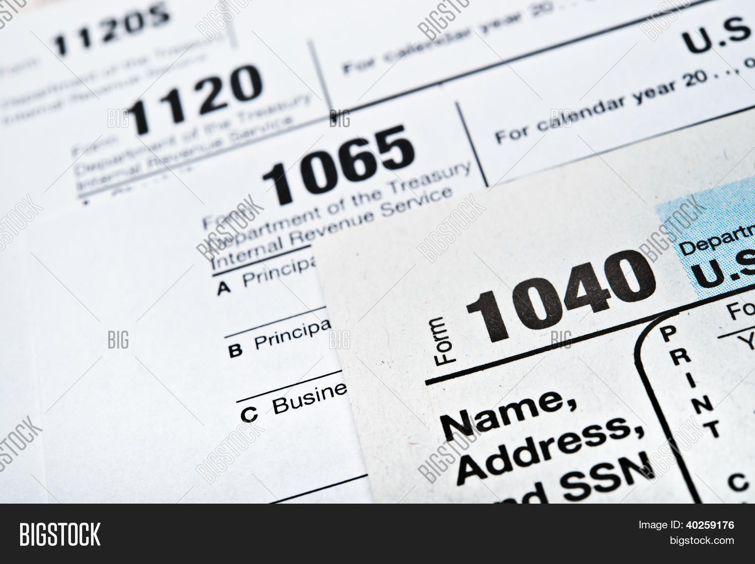 Us income tax return forms 1040 image photo bigstock us income tax return forms 104010651120 falaconquin