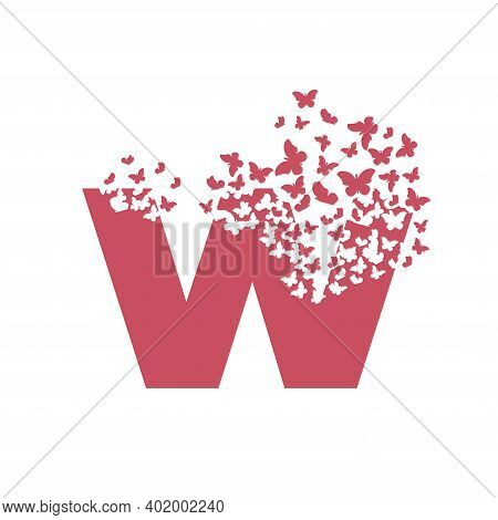 The Letter W Dispersing Into A Cloud Of Butterflies And Moths.