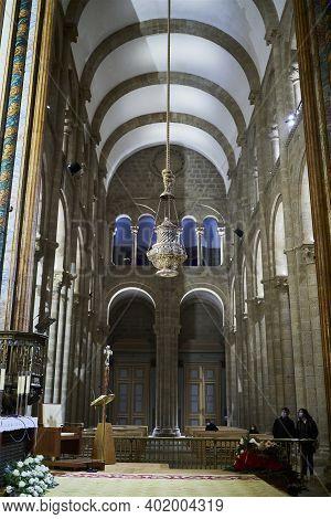 Santiago De Compostela (spain), January 5, 2021. Cathedral Of Santiago De Compostela, Recently Resto