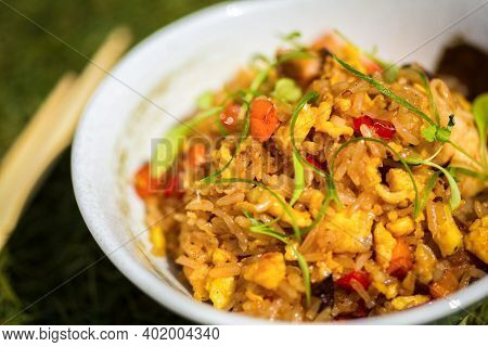 Fried Rice With Seafood In Japanese Style