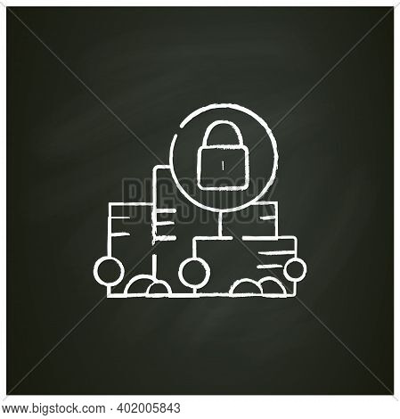 Total Lockdown Chalk Icon. New Normal Concept. Quarantine In City. Staying Home, Social Isolation. N
