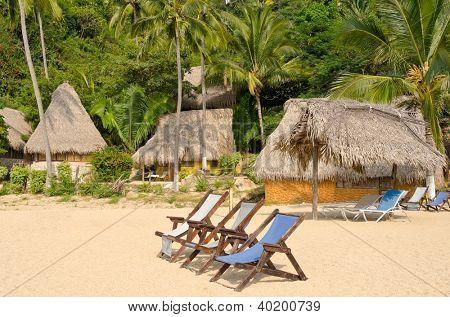 Untouched tropical beach in Yelapa, Puerto Vallarta, Mexico.
