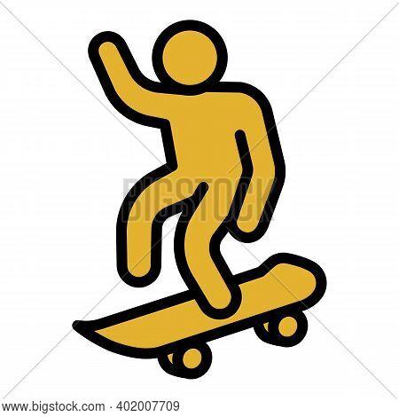 Ramp Skateboard Icon. Outline Ramp Skateboard Vector Icon For Web Design Isolated On White Backgroun