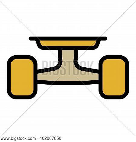 Rear Wheels Skateboard Icon. Outline Rear Wheels Skateboard Vector Icon For Web Design Isolated On W