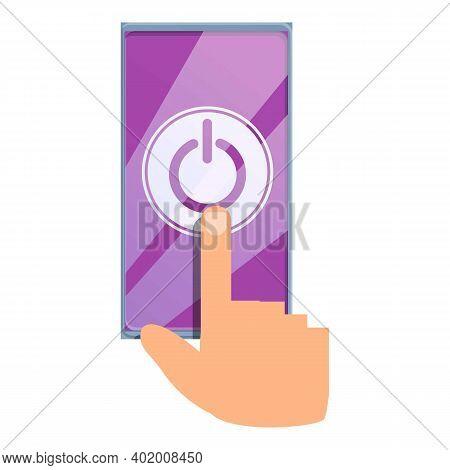 Digital Detoxing Turn Off Phone Icon. Cartoon Of Digital Detoxing Turn Off Phone Vector Icon For Web