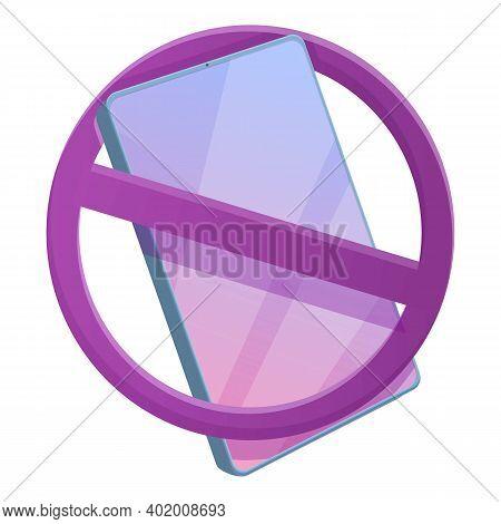 Digital Detoxing Gadget Icon. Cartoon Of Digital Detoxing Gadget Vector Icon For Web Design Isolated