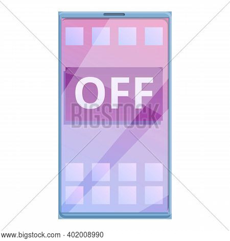 Turn Off Smartphone Icon. Cartoon Of Turn Off Smartphone Vector Icon For Web Design Isolated On Whit