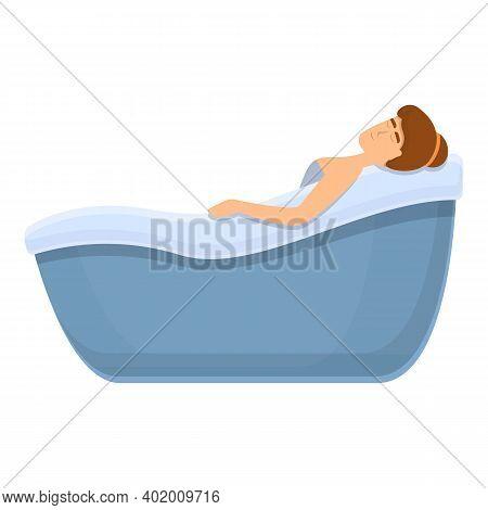 Self Care Bathtub Icon. Cartoon Of Self Care Bathtub Vector Icon For Web Design Isolated On White Ba