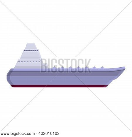 Aircraft Carrier Deck Icon. Cartoon Of Aircraft Carrier Deck Vector Icon For Web Design Isolated On