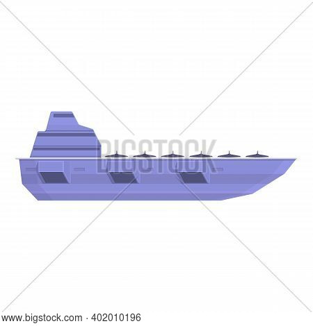 Aircraft Carrier Defence Icon. Cartoon Of Aircraft Carrier Defence Vector Icon For Web Design Isolat