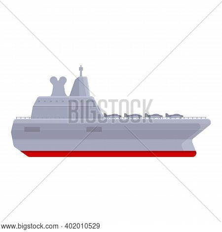 Aircraft Carrier Modern Type Icon. Cartoon Of Aircraft Carrier Modern Type Vector Icon For Web Desig