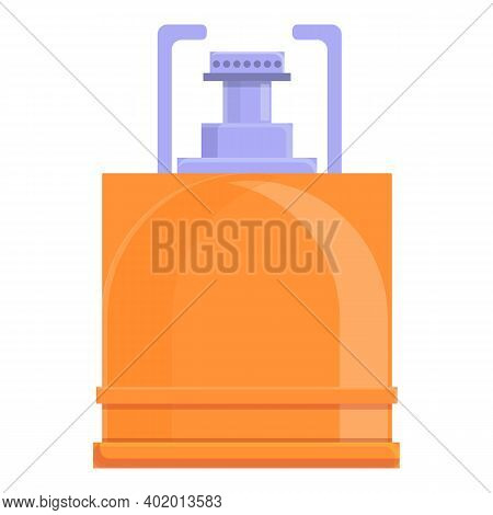 Camp Gas Stove Icon. Cartoon Of Camp Gas Stove Vector Icon For Web Design Isolated On White Backgrou