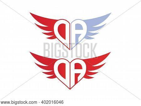 Da Valentine Love Alphabet Logo Design Concept