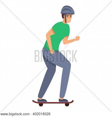 Skateboarding Extreme Protection Icon. Cartoon Of Skateboarding Extreme Protection Vector Icon For W