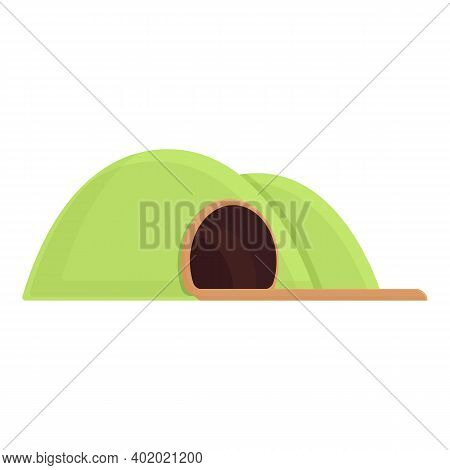 Tunnel Railroad Icon. Cartoon Of Tunnel Railroad Vector Icon For Web Design Isolated On White Backgr