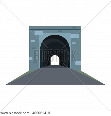 Metro Tunnel Icon. Cartoon Of Metro Tunnel Vector Icon For Web Design Isolated On White Background