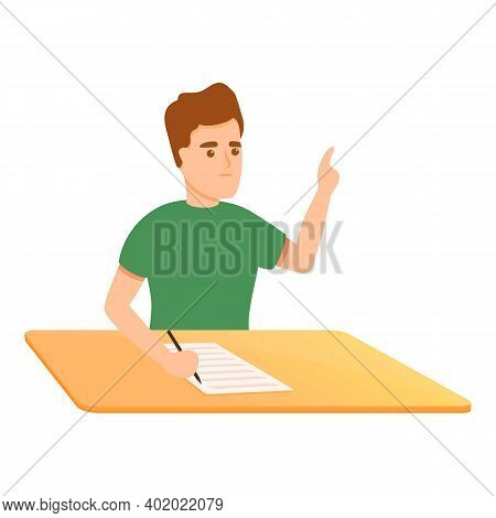 Add School Test Icon. Cartoon Of Add School Test Vector Icon For Web Design Isolated On White Backgr
