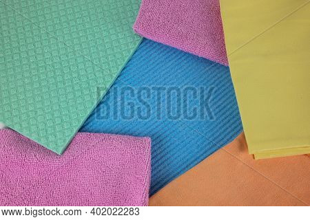 Kitchen Dishcloths And Micro Fiber Cloths In Different Colors