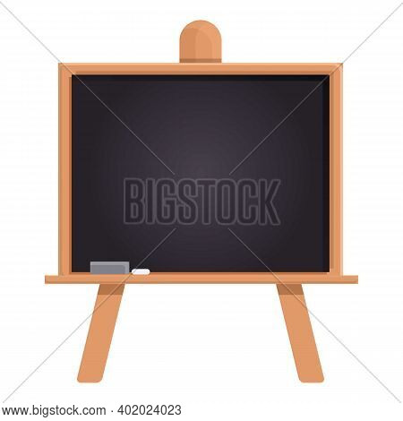 Black Chalkboard Icon. Cartoon Of Black Chalkboard Vector Icon For Web Design Isolated On White Back