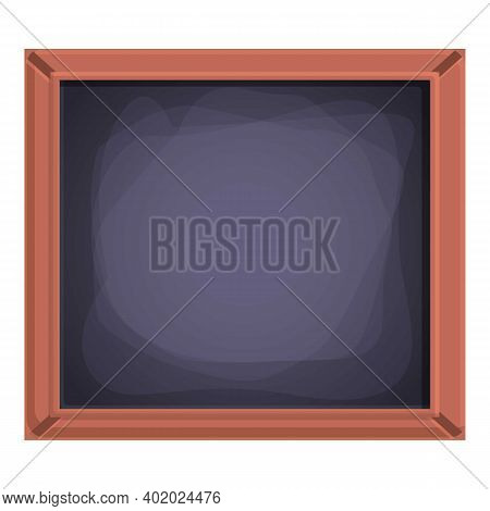 Wood Frame Chalkboard Icon. Cartoon Of Wood Frame Chalkboard Vector Icon For Web Design Isolated On