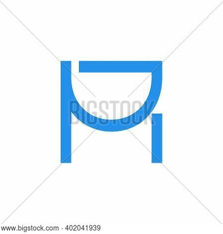 Modern Illustration Logo Design Monogram M And D