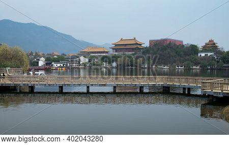 Hengdian, Zhejiang China - Jan 21 2020:the Area Of  Hengdian's World Studio For Shooting Film Studio
