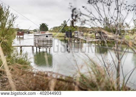 Carrelet De Pêche, The Emblematic Fisherman's Hut Of The Coastal Landscapes Of Vendee