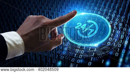 Business, Technology, Internet And Network Concept. Technical Support Customer Service.