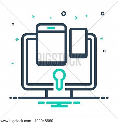 Mix Icon For Total Security Multi Device Protection Secure