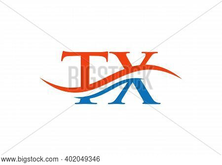 Initial Letter Tx Linked Logo For Business And Company Identity. Modern Letter Tx Logo Vector Templa