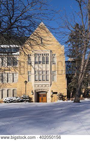 Entryway To Landmark University Hall In Saint Paul Minnesota