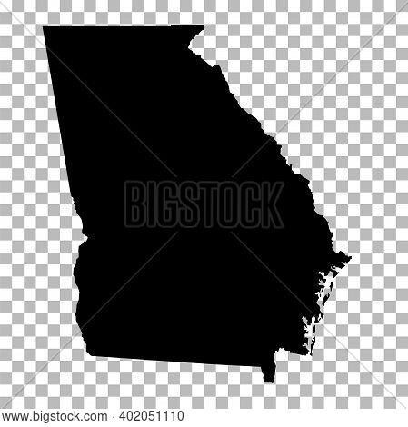 Georgia State On Transparent Background. Georgia Map Sign. Flat Style. Georgia State Clipart.