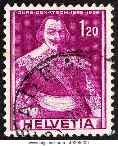 Postage Stamp Switzerland 1941 Jurg Jenatsch, Jorg, Political Le
