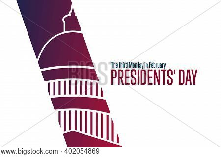 Happy Presidents Day. The Third Monday In February. Holiday Concept. Template For Background, Banner