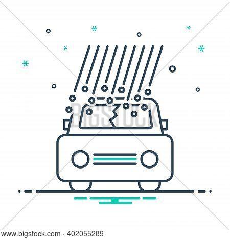 Mix Icon For Hail Damage Hail Damage Car Hail Insurance Danger