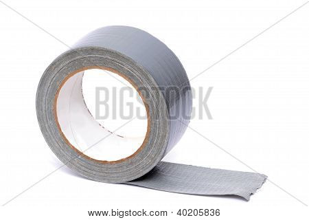 roll of duct tape isolated white background poster