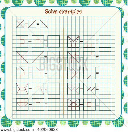 Logic Exercises For Children. Solve Examples According To The Model