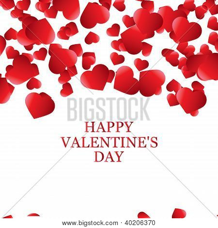 Vector Valentine's Day card, abstract banner