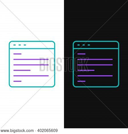 Line Computer Api Interface Icon Isolated On White And Black Background. Application Programming Int