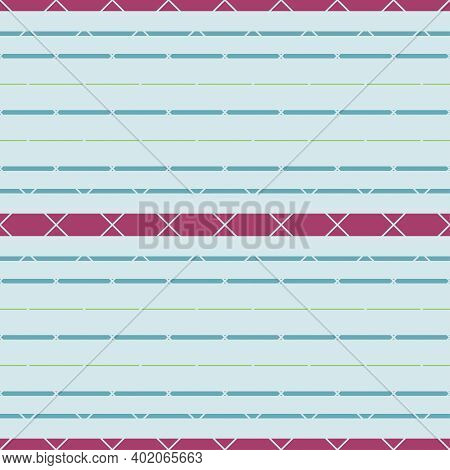 Abstract Vintage Noisy Textured Striped Background. Vector Paisley Repeat Seamless Pattern. Traditio